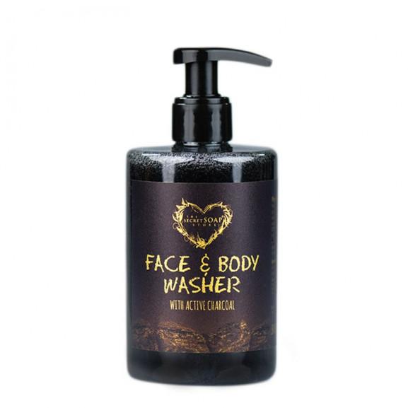 Płyn do mycia twarzy i ciała z węglem aktywnym 300 ml