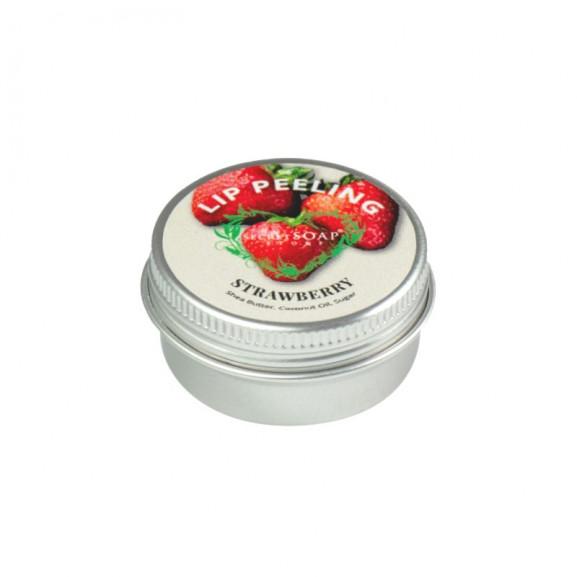 Peeling do ust o zapachu słodkiej truskawki 15 ml