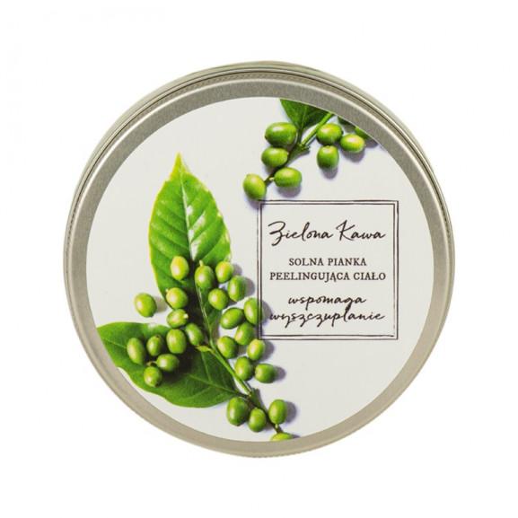 Solna pianka do mycia ciała z Pumeksem i Zieloną Kawą 200 ml