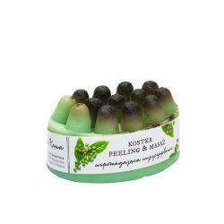 Kostka peelingująco-masująca z ziarnami zielonej kawy 100g