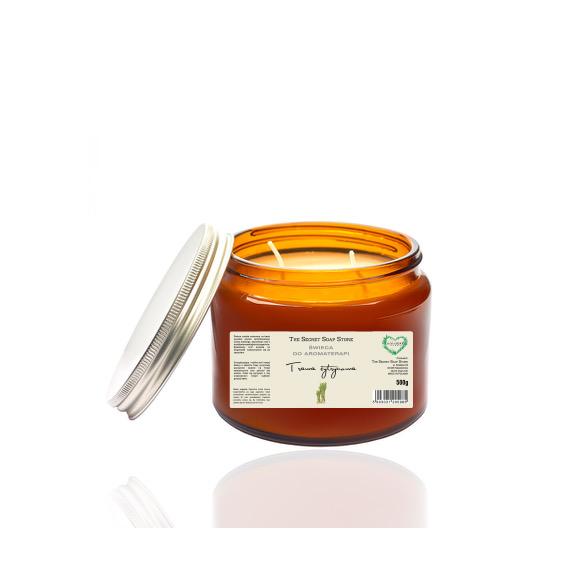 Świeca do aromaterapii - trawa cytrynowa 500 ml
